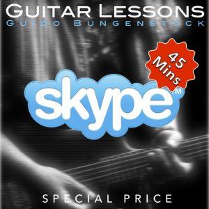 Skype guitar lesson - 45 minutes