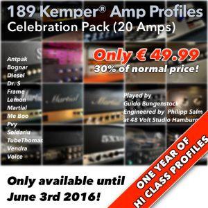 Kemper Amp Profiles-Celebration Pack