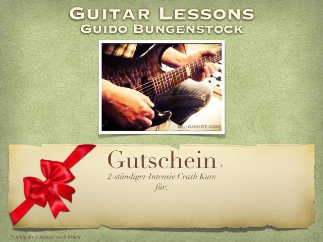 Gutschein-2 Stunden Gitarrenunterricht