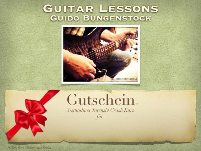 Gutschein-3 Stunden Gitarrenunterricht