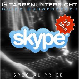 Skype Gitarrenunterricht - 30 Minuten