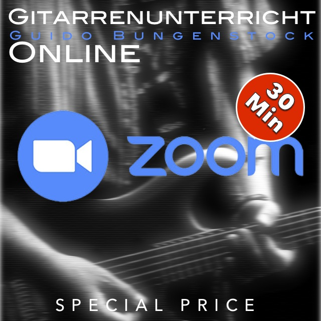 Online Gitarrenunterricht - 30 Minuten